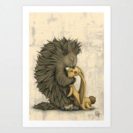 Yellow Bunny Art Print