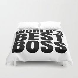 WORLD'S BEST BOSS Duvet Cover