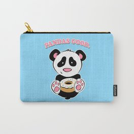 Pandas Good. Donuts Gooder. Carry-All Pouch