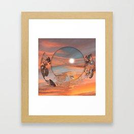 Lunar Sunset Framed Art Print