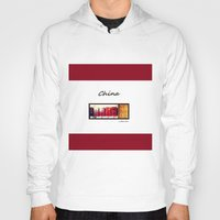 china Hoodies featuring China by Luciano Bove