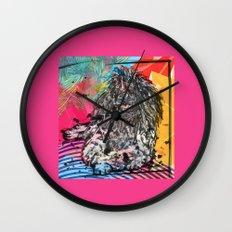 Poodle 2 pop art Wall Clock
