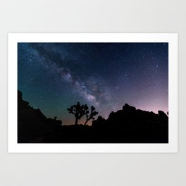 Desert Night Sky Starry Night Photography Art Print