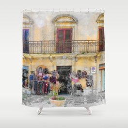 Erice art 1 Shower Curtain