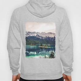 Green Blue Lake and Mountains - Eibsee, Germany Hoody