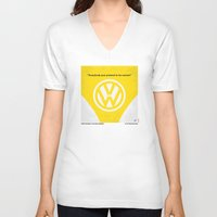 movie posters V-neck T-shirts featuring No103 My Little Miss Sunshine movie poster by Chungkong