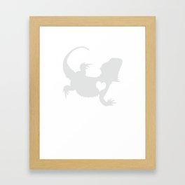 Adore Bearded Dragons Framed Art Print