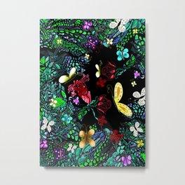 Mystic Butterfly Garden Metal Print