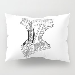 French Corset in Black Pillow Sham