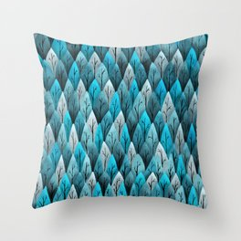 Turquoise Forest Pattern Throw Pillow