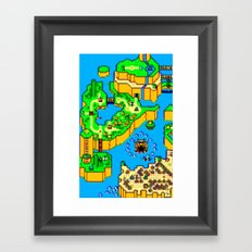 Mario World '84 Framed Art Print