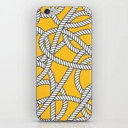 Nautical Yellow Rope Pattern Repeat iPhone Skin