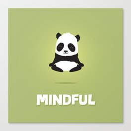 Mindful panda levitating Canvas Print