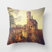 lichtenstein Throw Pillows featuring Lichtenstein castle by Renata Arpasova