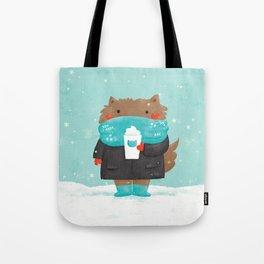 Winter Cat Tote Bag