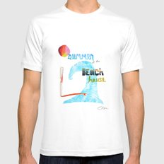 Summer at the Beach House MEDIUM White Mens Fitted Tee