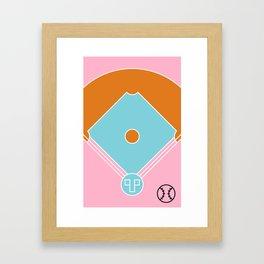 Court / Baseball Framed Art Print