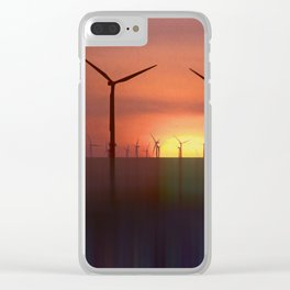 Wind Farms (Digital Art) Clear iPhone Case