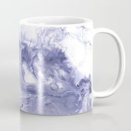 Indigo, black & white abstract II Coffee Mug