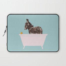 Baby Donkey in Bathtub Laptop Sleeve
