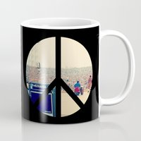 woodstock Mugs featuring Woodstock 69 by Silvio Ledbetter