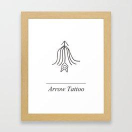 Arrow Tattoo Framed Art Print