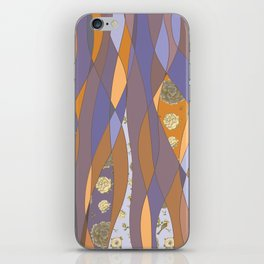 Abstract pattern with floral collage iPhone Skin