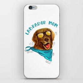 Labrador Mom Dog Lover Gift iPhone Skin