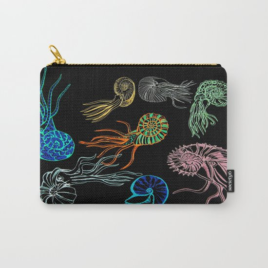 Ammonites at Night Carry-All Pouch