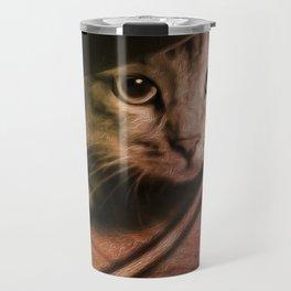 Crouching Kitty  Travel Mug