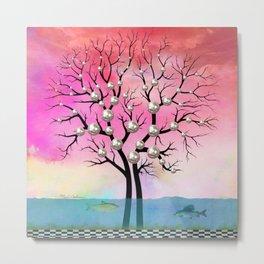 Pearls tree Metal Print
