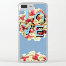 Love Floral Bouquet Clear iPhone Case