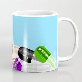Pill Popper Party Blue Coffee Mug