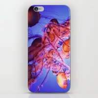 jellyfish iPhone & iPod Skins featuring Jellyfish by Randy Aquilizan