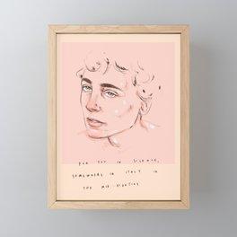 for you in silence Framed Mini Art Print