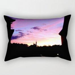 Castle Silhouette Rectangular Pillow