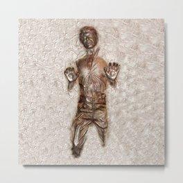 Han Solo In Carbonite Metal Print