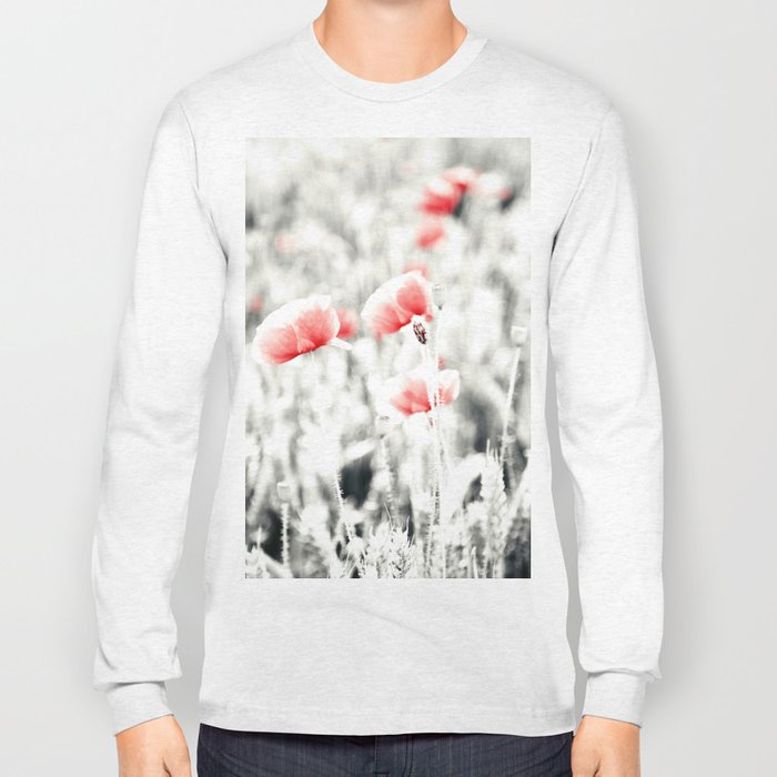 Poppy Poppies Mohn Mohnblume Flower Long Sleeve T-shirt