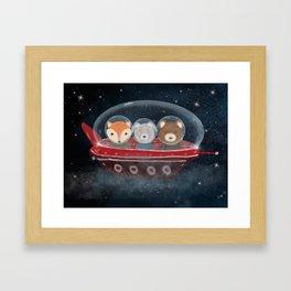 a little space adventure Framed Art Print