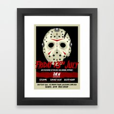 FortyTwo - Poster (Friday 13th July) Framed Art Print