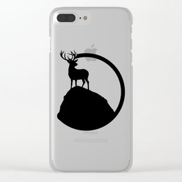 deer pose Clear iPhone Case