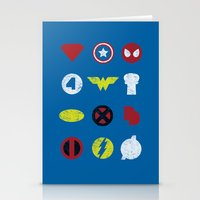 super heroes Stationery Cards featuring Super Simple Heroes by Resistance