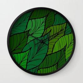 Lush / Leaf Pattern Wall Clock