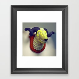 Taxidermy 3: Sheepish Framed Art Print