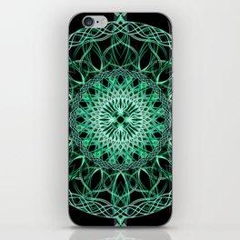 Luminous Knot Mandala iPhone Skin