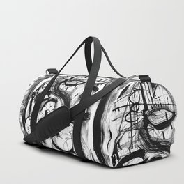 The Witch and Her Sons- b&w Duffle Bag