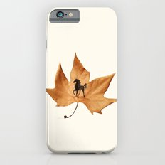 Horse on a dried leaf iPhone 6s Slim Case