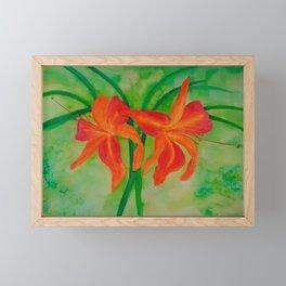 Orange Daylilies Framed Mini Art Print