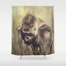 Gorilla in the Mist Shower Curtain