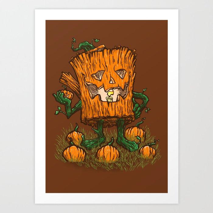 The Pumpkin Log Art Print